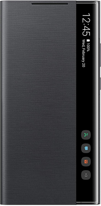 Samsung Galaxy Note20 Ultra 5G Case, S-View Flip Cover Black