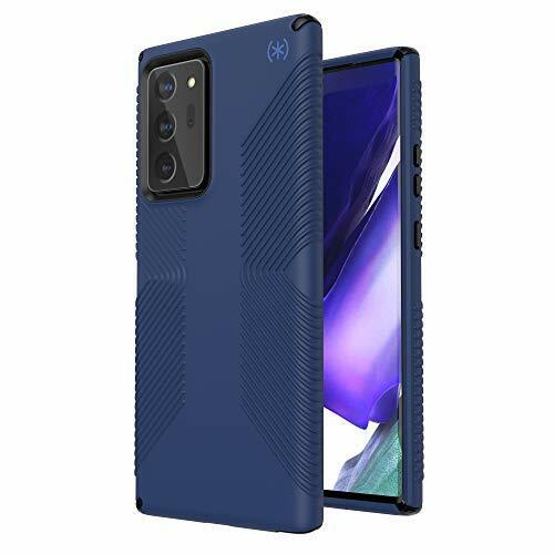 Speck Products Presidio2 Grip Samsung Note20 Ultra Case, Coastal Blue/Black/Storm Blue