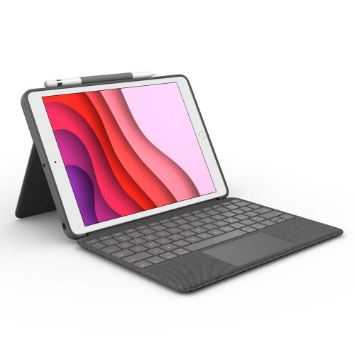 Logitech Combo Touch for iPad (7th Generation) Keyboard case Graphite