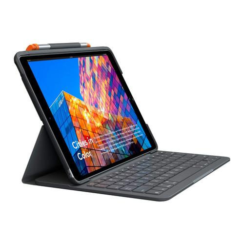 Logitech iPad (7th Generation) Keyboard Case | Slim Folio with Integrated Wireless Keyboard (Graphite)