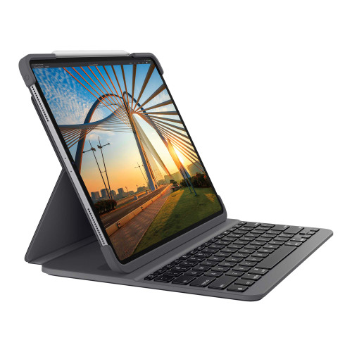 Logitech SLIM FOLIO PRO Backlit Bluetooth Keyboard Case for iPad Pro 11-inch (1st and 2nd gen) - Graphite