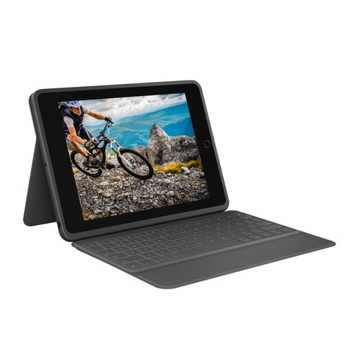 Logitech RUGGED FOLIO compatible with 7th-generation iPad, Graphite