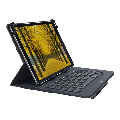 """Logitech Universal Folio with Integrated Bluetooth 3.0 Keyboard for 9-10"""" Tablets"""