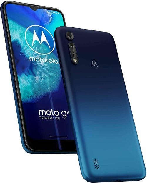 "Motorola Moto G8 Power Lite 64GB 4GB RAM UNLOCKED 6.5"" Display Royal Blue"