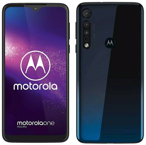 "Motorola One Macro  Dual Sim UNLOCKED 6.2"" Display 64GB 4GB RAM in Blue"