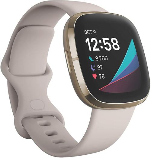 Fitbit Sense Advanced Smartwatch One Size White/Gold