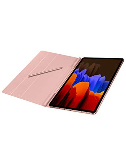 Samsung Electronics Galaxy Tab S7 + Book Cover en Mystic Bronze