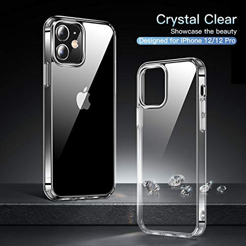 CASEKOO Crystal Clear Diseñado para iPhone 12 Case, Diseñado para iPhone 12 Pro Case Clear