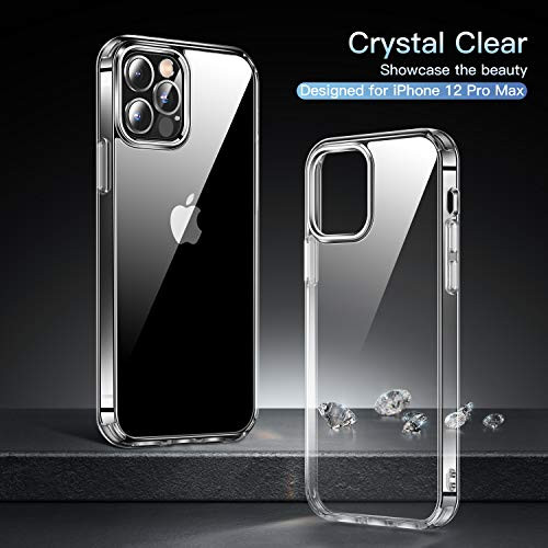 CASEKOO Crystal Clear Designed for iPhone 12 Pro Max Case Clear