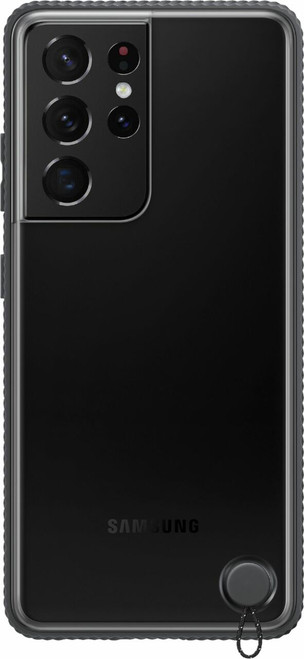 Samsung - Clear Protective Cover Case for Galaxy  S21 Ultra - Black