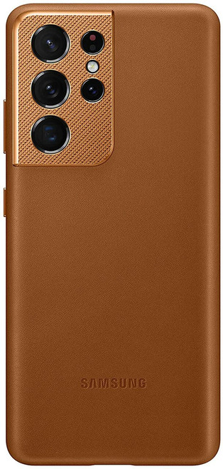 Samsung - Leather Case for Galaxy S21/S21 plus and S21 Ultra - Brown