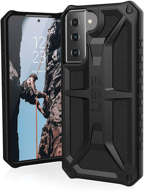 URBAN ARMOR GEAR UAG Monarch Protective Cover Designed for Samsung Galaxy S21/S21+/S21 Ultra Black