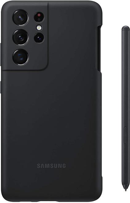 Samsung - Silicone S Pen Case for Galaxy S21 Ultra - Black EF-PG99PTBEGUS