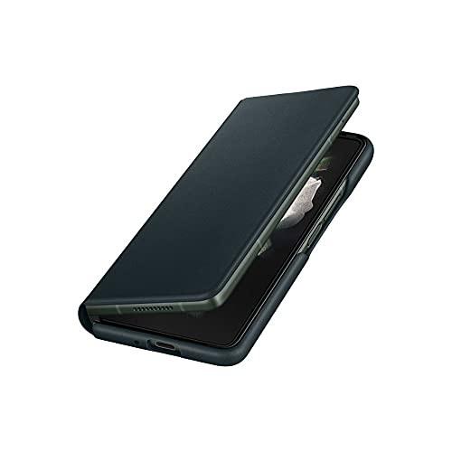 Samsung Galaxy Z Fold3 5G Leather Flip Stand Cover, Green EF-FF926LGEGUS