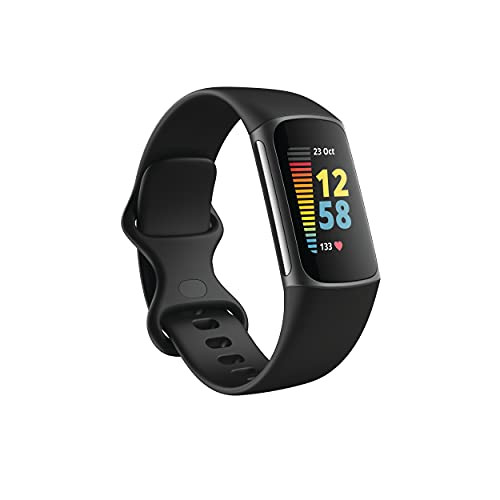 Fitbit - Charge 5 Advanced Fitness & Health Tracker - Graphite FB421BKBK