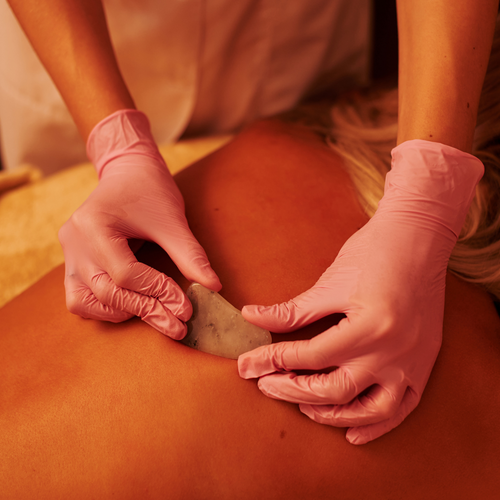 Gua sha Chinese medical massage and Tok Sen Tapping Massage