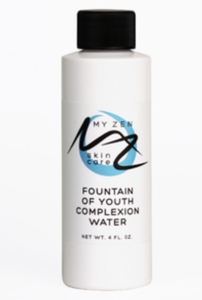 A must-have in every skincare regimen. Our Fountain of Youth Complexion Water is a lightweight treatment that can truly help your skin fight the visible signs of aging.    Our botanically-charged elixir is developed to do this for you: + reduce the appearance of fine lines and wrinkles with powerful hyaluronic acid and a selection of botanicals.   + help create smoother and tighter looking skin   + help create a look of plumpness and volume, radiance and bounce!   + slow down the aging process   Taking care of your skin can allow for a healing process that refreshes your skin's appearance and helps to restore its structure. Hyaluronic acid is your skin's main moisturizer and can have long lasting benefits. Vitamin C can reduce premature wrinkling by stimulating the growth of collagen. Green tea contains biological compounds called polyphenols. A sub-group of polyphenols called catechins effectively destroy free radicals and help slow down the aging process.   This anti-aging product nourishes your skin with hyaluronic acid and vitamin C plus two of our signature ingredients astragalus (huang qi) and green tea (lu cha).    Directions: Use 1-1.5 capfuls of the water to hydrate the paper mask. Put the mask on your clean face for 5 to 10 minutes then follow with Your Daily C Elixir and your favorite cream or serum.    We care about our community so donate a portion of our income to a local food bank and to the Cat Care Society. What it is formulated WITHOUT:  Parabens Phthalates Endangered plants or minerals Gluten  Our products are never tested on animals; they're bunny safe.