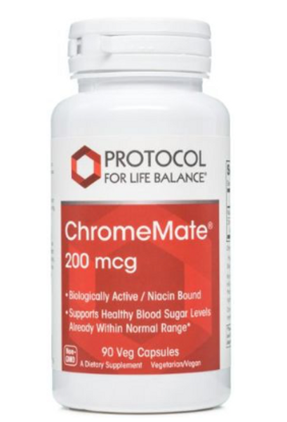 Supports Healthy Blood Sugar Levels Already Within Normal Range*  Chromium is an essential trace mineral that is known to enhance the actions of insulin, a peptide that is critical to the metabolism and storage of carbohydrate, fat and protein in the body.