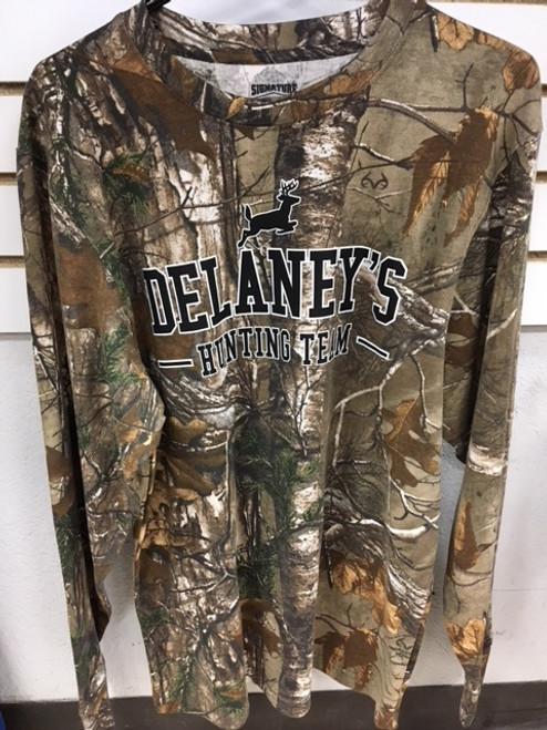 Delaney's Hunting Team Camo Longsleeve Shirt
