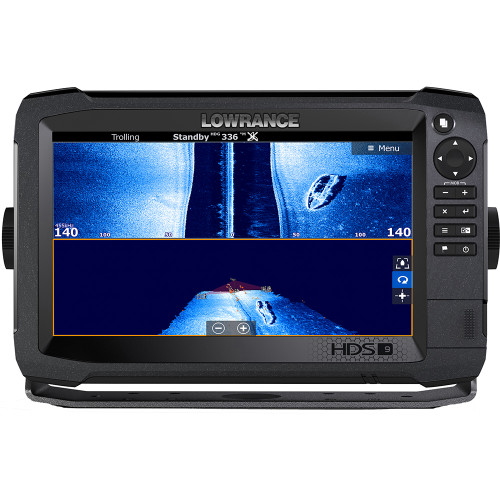 "Lowrance HDS-9 Carbon CHIRP Sonar/GPS Combo, 9"" SolarMAX HD Display, Insight TotalScan"