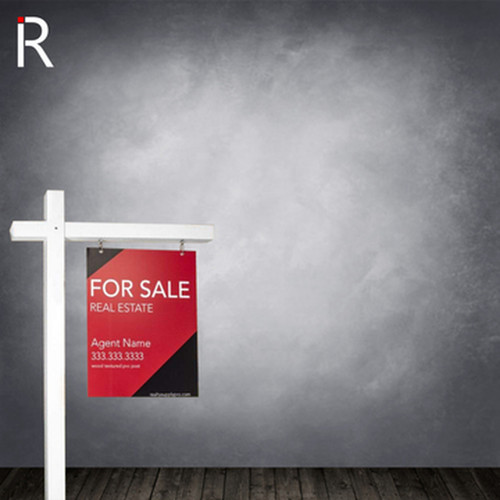 Real Estate Sign Post - White - 6' Tall