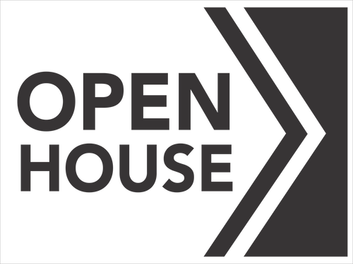 24''W x18''H Open House Sign - 06