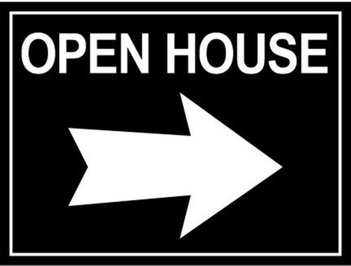 24''W x18''H Open House Sign - 04