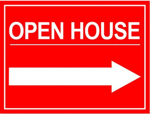 24''W x18''H Open House Sign - 03