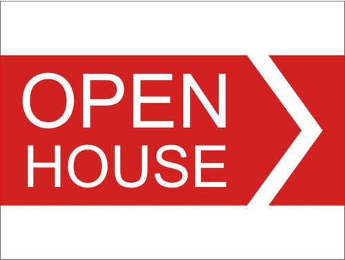 24''W x18''H Open House Sign - 01