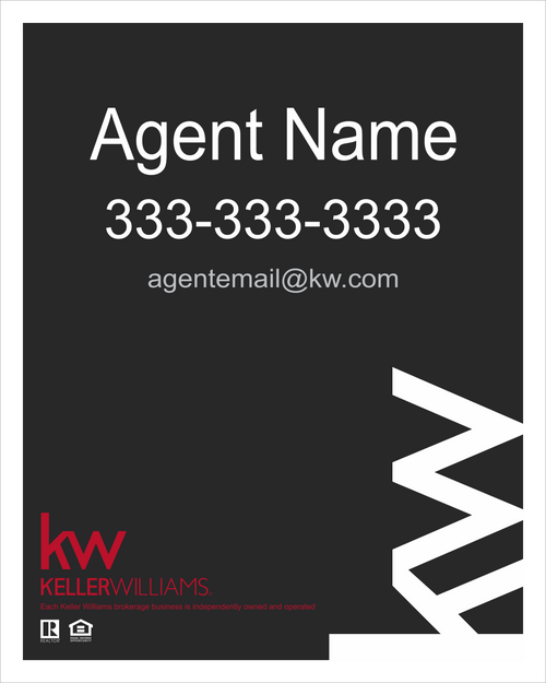 KW For Sale Sign Black/White