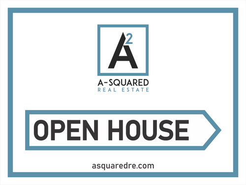 A-Squared 24''W x18''H Open House Sign