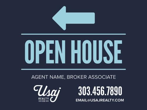 USAJ Realty CO Open House 24''W x 18''H