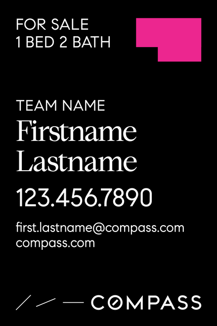 #005. Compass YS 24''W x 36''H - Team Name & 1 Agent Name
