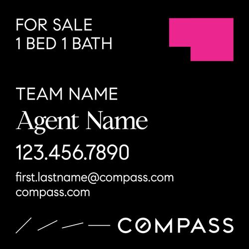 #005. Compass YS 24''W x 24''H - Team Name & 1 Agent Name