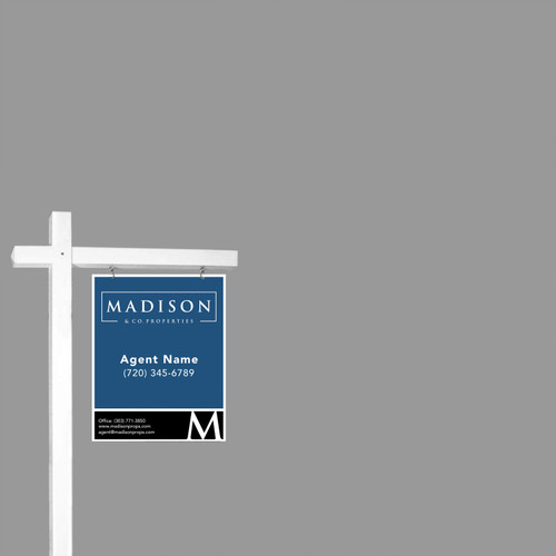 Madison Real Estate Sign Post - White - 6' Tall