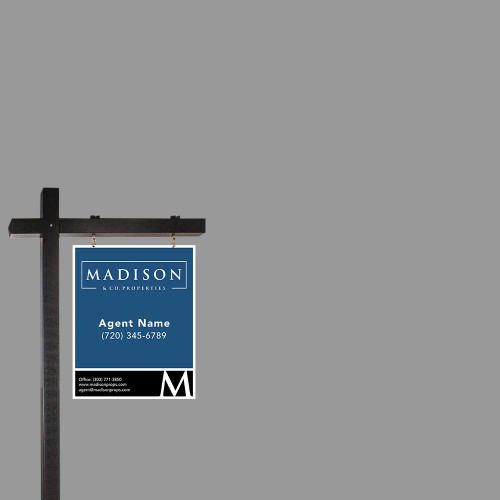 Madison Real Estate Sign Post - Black - 6' Tall