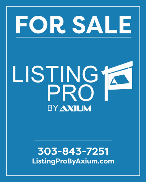Axium For Sale Sign - Single Agent