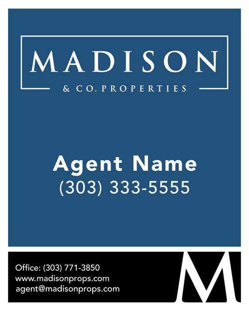 #001 Madison & Co For Sale Sign - Single Agent