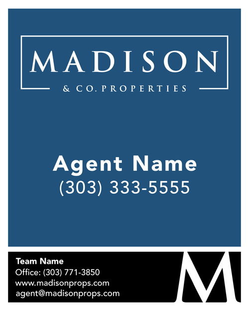 #002 Madison & Co For Sale Sign With Team Name