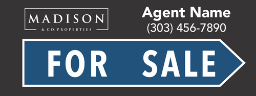 Madison & Co For Sale Sign Black 24''W x 9''H