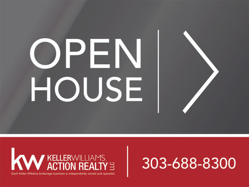 3. KW Action Realty Open House Sign W/ Office Number 24''W x 18''H