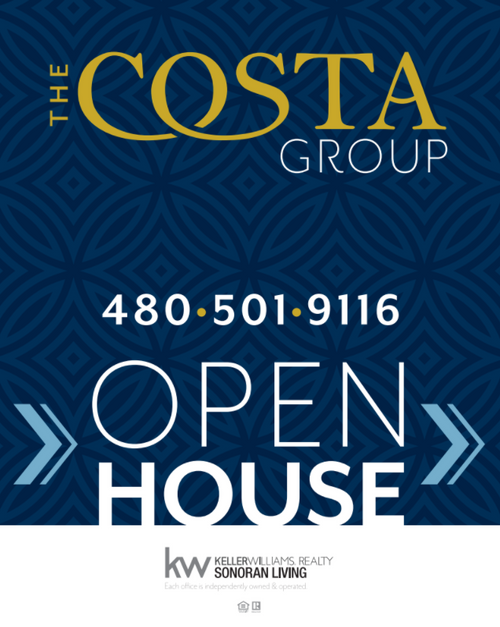 The Costa Group Open House Sign 24''W x 30''H