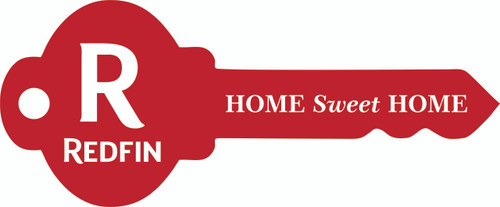 """#R1 - Redfin Key Shaped """"Home Sweet Home"""" Sign, 29''W x12''H - Red"""