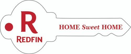 """#R2 - Redfin Key Shaped """"Home Sweet Home"""" Sign, 29''W x12''H - White"""