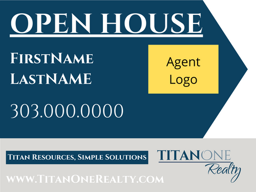 Open House Directional Sign - Agent Logo 24''W x 18''H