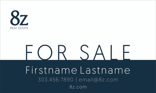 #4. 8Z For Sale Sign 30''W x 18''H White Background