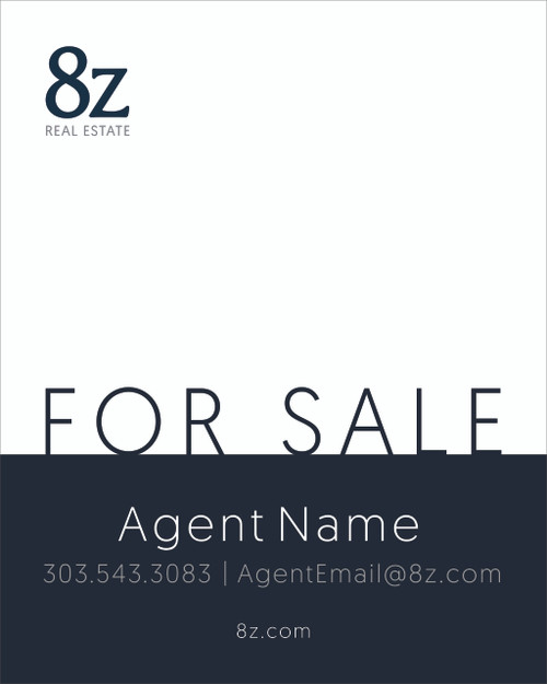 #6. 8Z For Sale Sign 24''W x 30''H White Background