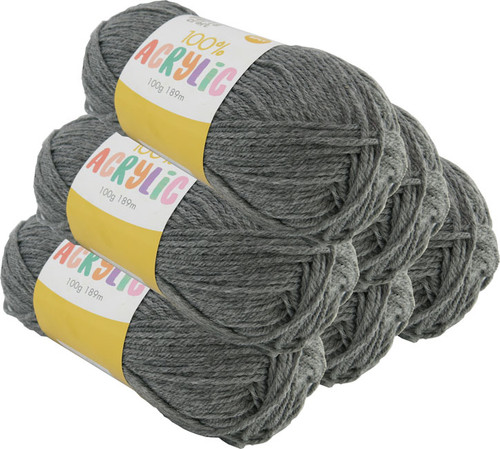 Acrylic Yarn 100g 189m 8ply Dove Grey (Product # 093108)