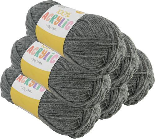 Acrylic Yarn 100g 189m 8ply Dove Grey (Product # 093108)