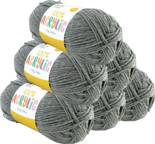 Acrylic Yarn 100g 189m 8ply Silver Grey (Product # 093115)